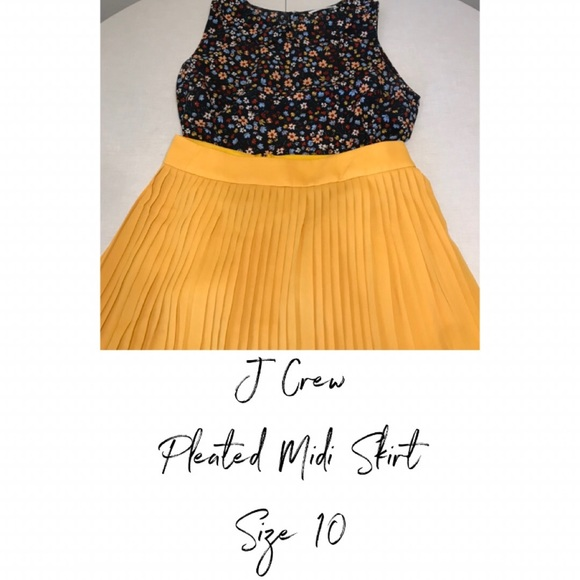 J. Crew Dresses & Skirts - J Crew Pleated Midi Skirt Size 10